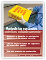 Handle Chemicals Carefully – Spanish